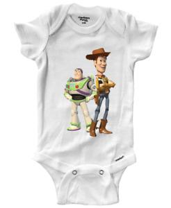 Infant Gerber Onesies Bodysuit OnePiece Baby Gift Cute Cowboy Woody Buzz Buddies