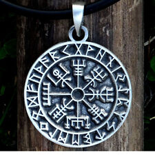 Vegvisir Pendant & Necklace Viking Jewelry guidepost compass Talisman Pewter