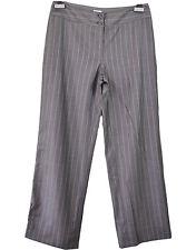 ARMANI Women's Grey Formal Striped Tailored Wool Silk Trousers Pants sz IT44 Q69