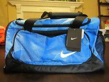 (BA4908 406) NWT Nike Gym Duffel Bag Ocean Blue Black $45