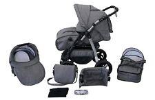 Kombikinderwagen Milo, Baby, Buggy, 3in1 Set mit Babyschale 0-13Kg für Isofix