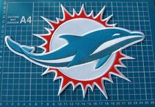 """Miami Dolphins NFL Football Superbowl Team Huge  10"""" Patch sew on embroidery"""