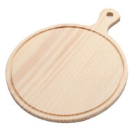 "6"" Wooden Board Pizza Serving Tray Cake Bread Plate Sushi Dessert Platter"