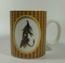 Salmon Fly Fishing Coffee Mug Mint Condition Savinio Porcelain Microwave Safe
