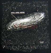 YOU ARE HERE--Milky Way Cosmic Galaxy Space Stars Science Astronomy T shirt S-3X