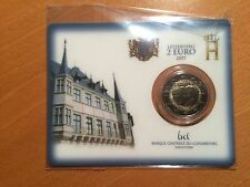 Luxemburg 2 euro 2011 Jean in coincard BU