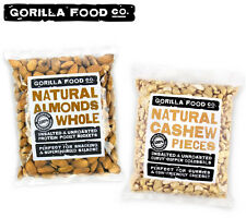 Gorilla Food Co. Raw Whole Almonds + Cashew Pieces Unsalted Combo - 2 x 1lb