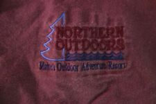 Northern Outdoors Maine Whitewater Rafting Embroidered Shirt, Men's L, Preowned