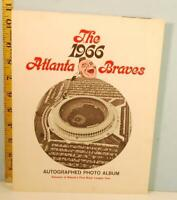 The 1966 Atlanta Braves Autographed Photo Album 1st Major League Year RARE!!!