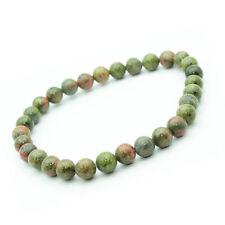 Bracelet Unakite en pierre semi-précieuse perles 6 mm. Pierre Calmante