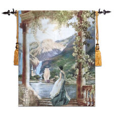 "Medieval Jacquard Woven Fine Art Tapestry Wall Hanging30"" X 35""Lady Hope Reunion"