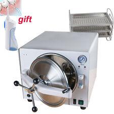【2-5 Day to US】Dental Lab Autoclave Sterilizer Medical Steam 900W 18L+3 tray FDA