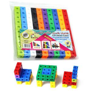 100Pcs/set Math Link Cubes Interlocking Snap Cubes Counting Snap Blocks Kids Toy