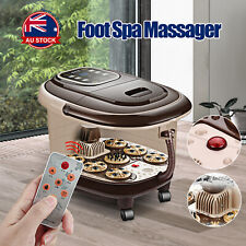 Electric Foot Spa Roller Massager Tub Time Set Heat Bubble Vibration Heating A