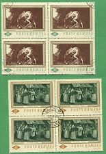 10 Sets of 1967 Romania Stamps 1907 - 1912 Cat Val. $41 Historical Paintings