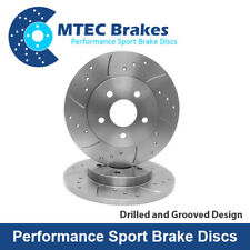Mercedes E320 4-Matic W211 03-04 Drilled & Grooved Rear Brake Discs
