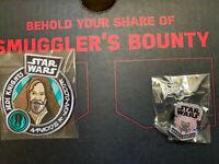 SMUGGLER'S BOUNTY STAR WARS: OBI-WAN PATCH & PLO KOON PIN SET NEW