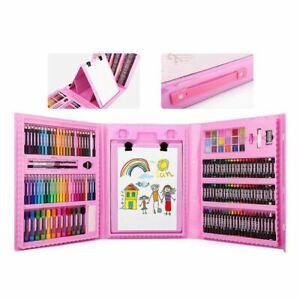 Luxury Art Set  Gift Box - Kids Colouring Drawing Sketching 176pcs Arts Case