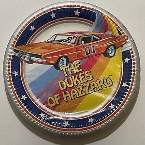 Dukes Of Hazzard General Lee 1981 Birthday 9 Inch Party Plates Unopened Pack 8