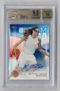 BRITTNEY GRINER 2016 TOPPS OLYMPIC TEAM AUTO AUTOGRAPH 17/50 GEM MINT BGS 9.5 10