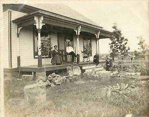 1890's B/W Small Photo; Workman-Rowland Home, La Puente CA San Gabriel Valley