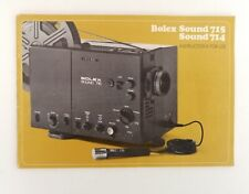 Bolex Sound 715/714 Super 8 Projector Instruction Manual