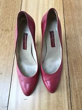 Charles Jourdan Red Leather Heels Size 40/ 9
