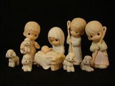 Precious Moments-9 Piece Regular/Large Nativity Set-$160V