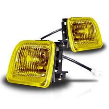 For 1996-1998 Honda Civic Sedan Coupe Yellow Lens Chrome Housing Fog Light Lamp