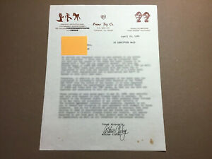 ART CLOKEY Written and Signed Letter by GUMBY's Creator From 4/14/84