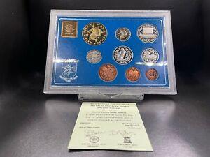 1982 Proof Isle of Man Decimal Coin Set Baby Crib
