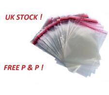 "100 Clear Cellophane Bags 6""x 8""  Cello Display Garment Self Adhesive Peel Seal"