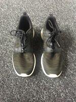 Nike Roshe Run Khaki & Black Trainers, Size UK 5, Perfect Condition Hardly Worn
