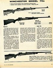 1976 Print Ad of Winchester Model 70 70A & Varmint Rifle