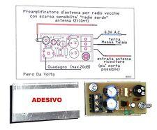 Amplificatore  d'antenna per radio antiche con scarsa sensibilità di ricezione