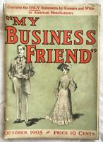 My Business Friend Magazine October 1905 Vol.I No.1 First Issue Business Woman
