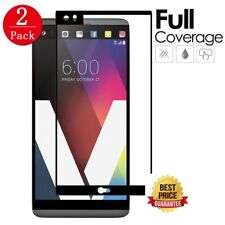 [2PACK] 3D Black Full Screen Coverage Temper Glass Screen Protector for LG V20