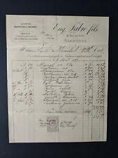 FACTURE COMMERCE SOIERIES CONFECTIONS CALICOTS CHALES FABRE NARBONNE 1889