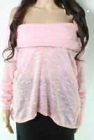 Go Couture Womens Sweater Pink Size Small S Off Shoulder Pullover $39- 153