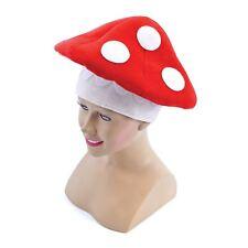 Toad Stool Hat Adult Mushroom Mario Mens Ladies Fancy Dress Accessory Fairy Tale