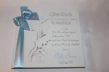 Hardcover Gästebuch Kommunion Konfirmation , hell blau