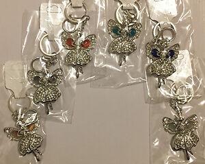 Fairy Angel Gem Crystal Rhinestone Keyring Charm Purse Bag Key Ring Chain  XMAS