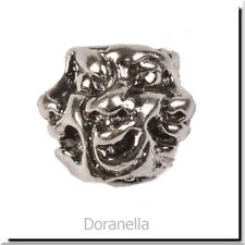 Authentic Trollbeads Sterling Silver 11142 Five Faces :1 RETIRED