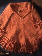 vintage Peruvian poncho cheek to cheek Bianca Ivan orange Girls