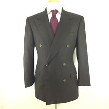 Belvest Suit Super 100's Wool Gray Chalk Stripe Made in Italy 48 8 R 38 R