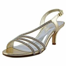 Caparros Wns NEW Bethany Embellished Asymmetric Sandals Gold Metallic10 M Org$80