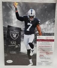 MARQUETTE KING Signed Autograph Oakland Raiders 8x10 Photo. WITNESS JSA