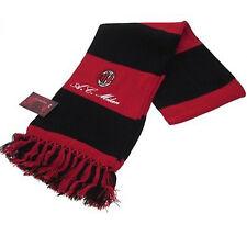 MILAN sciarpa rossonera  con stemma e ac MILAN ricamato  acrilico effetto lana