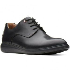 Clarks Un Voyage Plain Unstructured Mens Black Comfort Oxfords Shoes Size UK 11