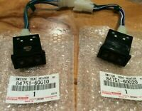 TOYOTA 84751-60010 84751-60020 Seat Heater Switch Right Left Sets LAND CRUISER